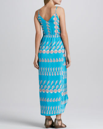 Amanda Uprichard Shell-Print Maxi Dress