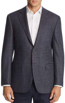 Canali Plaid Classic Fit Wool Sport Coat