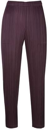 Pleats Please Issey Miyake pleated crop trousers