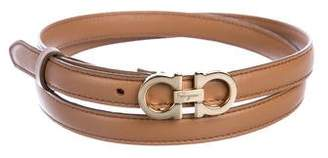Salvatore Ferragamo Gancini Reversible Polished Belt