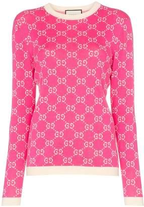 Gucci GG logo intarsia cotton jumper