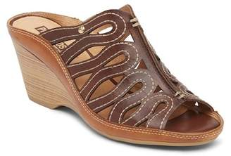 PIKOLINOS Capri Leather Wedge Sandal