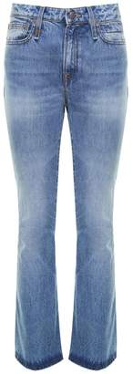 R 13 Caddy Cotton-denim Flared-cuffs Jeans
