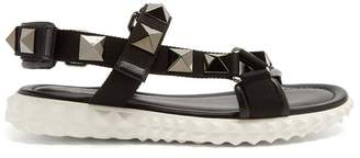 Valentino - Rubber Stud Sole Sandal - Mens - Black