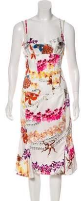 Just Cavalli Satin Printed Dress