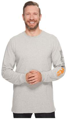 Timberland Base Plate Blended Long Sleeve T-Shirt with Logo Men's Clothing