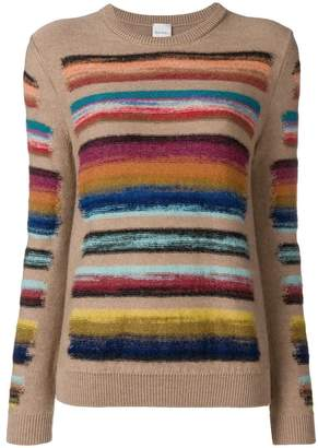 Paul Smith Black Label rainbow knitted jumper