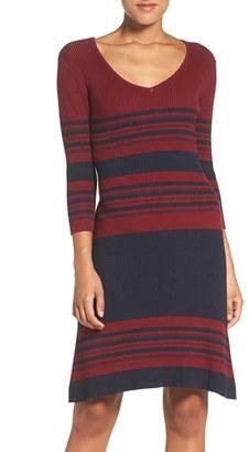 Women's Fraiche By J Stripe Body-Con Sweater Dress $115 thestylecure.com