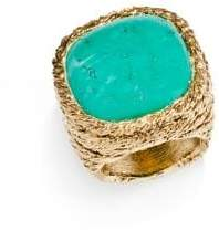 Aurélie Bidermann Miki Turquoise Ring in Turquoise 18K Gold-Plated Brass rrcQS