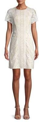 Eliza J Short Sleeve Lace Dress