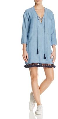 Rails Alicia Chambray Tassel Dress - 100% Exclusive $168 thestylecure.com