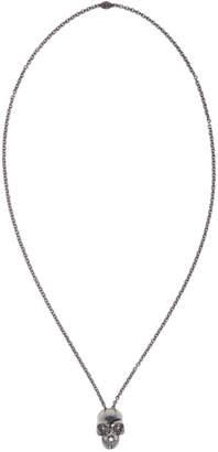 Alexander McQueen Silver Divided Skull Necklace
