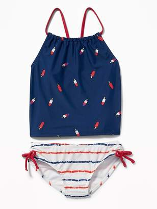 Old Navy Ruched Side-Tie Tankini for Girls