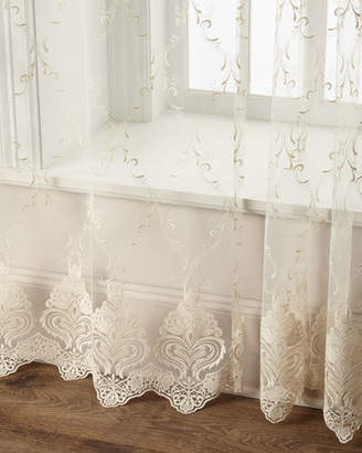 "Dian Austin Couture Home 60""W x 96""L Cameo Lace Curtain"