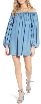7 For All Mankind Blouson Off the Shoulder Shift Dress
