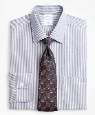 Brooks Brothers Stretch Regent Fitted Dress Shirt, Non-Iron Narrow Ground Stripe