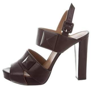 Hermes Leather Studded Sandals