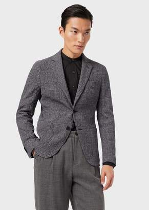 Giorgio Armani Regular-Fit, Crepon Upton Jacket With A Two-Way Stretch Design