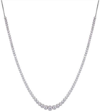 Carat London Quentin white-gold plated sterling silver necklace
