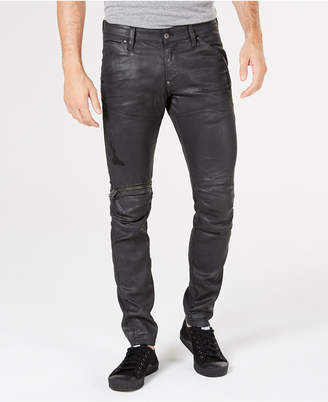 G Star Men's 5620 Elwood 3D Super-Slim Fit Stretch Moto Jeans