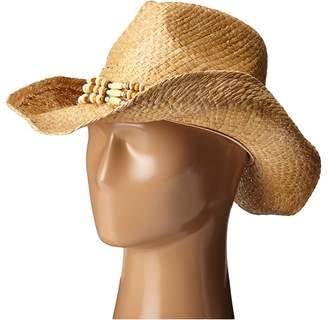 San Diego Hat Company RHC1078 Raffia Cowboy Hat with Beaded Band Caps