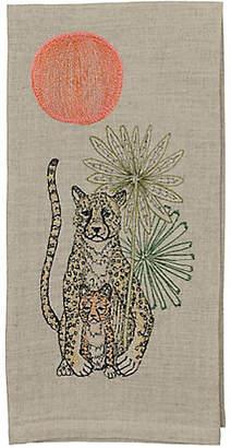Coral & Tusk Cheetah Guardian Tea Towel - Natural
