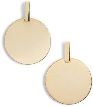 Something Navy Disc Door Knocker Earrings