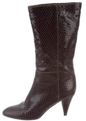 Loeffler Randall Embossed Patent Leather Boots