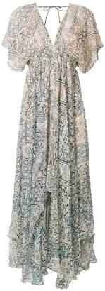 Mes Demoiselles printed v-neck maxi dress