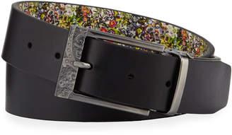 Robert Graham Quartermain Reversible Leather Belt