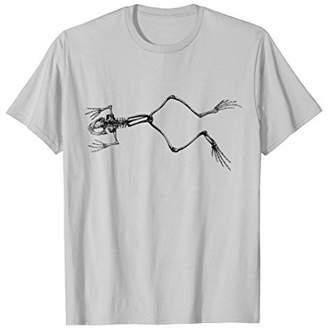 Frog Skeleton Shirt Amphibian Lover Herpetology Student Tee