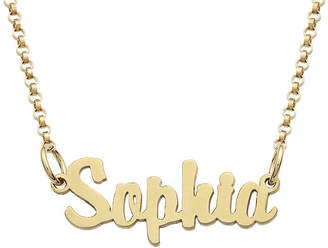FINE JEWELRY Personalized 18K Gold over Silver Girls Script Name Necklace
