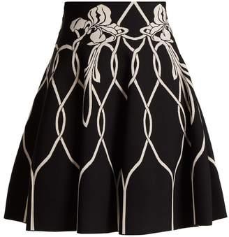 Alexander McQueen Art Nouveau floral-intarsia knitted mini skirt