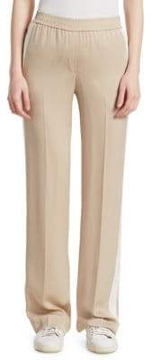Theory Striped Silk Track Pants
