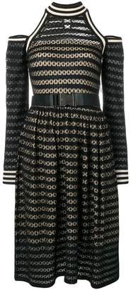Fendi cut-out shoulder midi dress