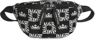 Dolce & Gabbana Logo Print Nylon Belt Bag