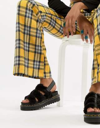 Dr. Martens Yelena sandal in black teddy