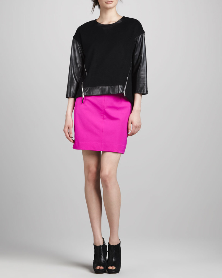 Milly Dana Basic Pencil Skirt