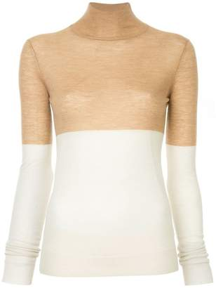 Joseph turtle-neck colour-block jumper