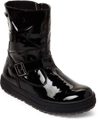 Naturino Kids Girls) Black Parana Rainstep Patent Boots