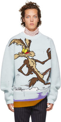 Calvin Klein Blue Looney Tunes Edition Coyote Sweater