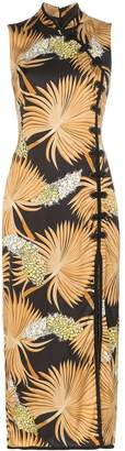 De La Vali Jean palm print dress