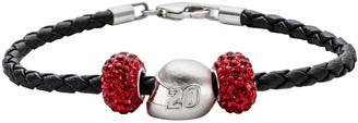 Insignia Collection NASCAR Matt Kenseth Leather Bracelet & Sterling Silver Helmet Bead Set