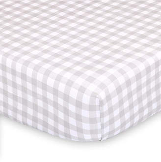The Peanut Shell The Farmhouse Check Fitted Crib Sheet Bedding