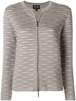 Giorgio Armani zipped fitted jacket