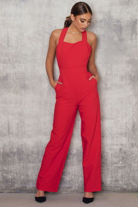 Cross Back Flared Jumpsuit