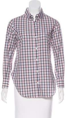 Barneys New York Barney's New York Button-Up Long Sleeve Top