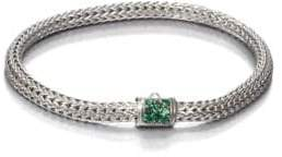 John Hardy Classic Chain Tsavorite& Sterling Silver Extra-Small Bracelet