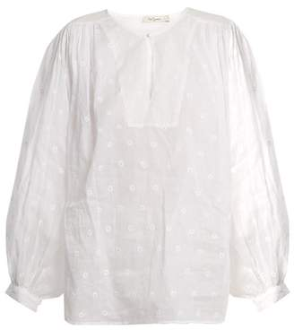 Mes Demoiselles Organdy Glor Embroidered Top - Womens - Ivory