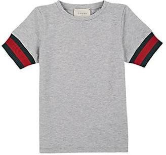 13595374249 Gucci Kids  Cotton Slub Jersey T-Shirt - Gray